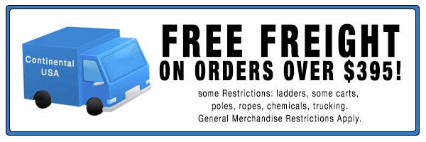 Free Freight on Orders Over $395