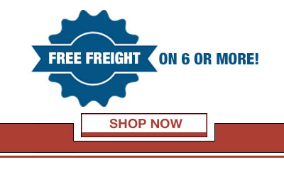 Free Freight on 6 or More!