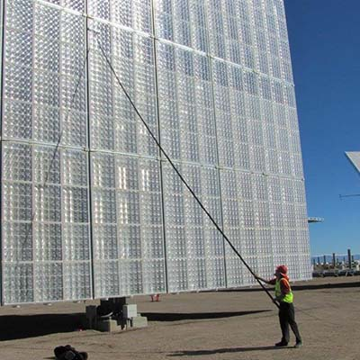 Cleaning Solar Panels with WaterFed